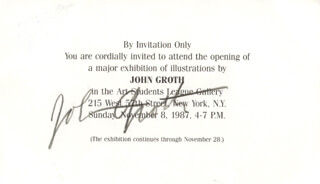 JOHN AUGUST GROTH - INVITATION SIGNED