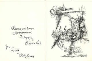 CHAIM GROSS - GREETING CARD SIGNED