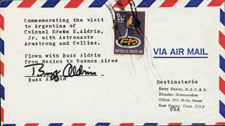 Autographs: COLONEL BUZZ ALDRIN - COMMEMORATIVE ENVELOPE SIGNED
