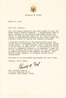 PRESIDENT GERALD R. FORD - TYPED LETTER SIGNED 03/23/1983