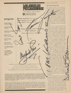 MARGARET PRICE - MAGAZINE SIGNED CIRCA 1972 CO-SIGNED BY: TOM KRAUSE, ROBERT TEAR, DONALD GRAMM, MAUREEN FORRESTER