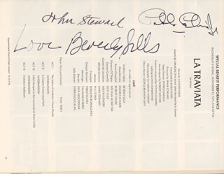 BEVERLY SILLS - PROGRAM SIGNED CIRCA 1975 CO-SIGNED BY: PABLO ELVIRA, JOHN STEWART