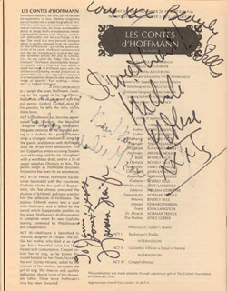 BEVERLY SILLS - INSCRIBED MAGAZINE SIGNED CIRCA 1972 CO-SIGNED BY: NORMAN TREIGLE, MICHELLE MOLESE, LOUIS QUILICO