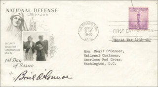 BASIL O'CONNOR - FIRST DAY COVER SIGNED CO-SIGNED BY: ELVIRA M. O'CONNOR