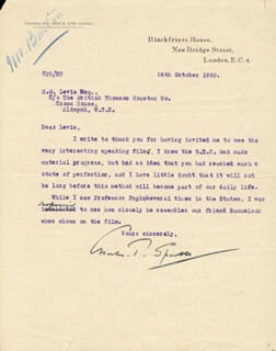 CHARLES T. SPARKS - TYPED LETTER SIGNED 10/24/1928