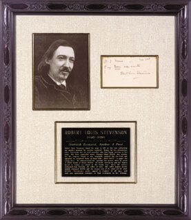 ROBERT LOUIS STEVENSON - AUTOGRAPH DOCUMENT SIGNED 11/1