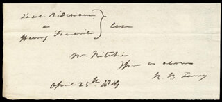 CHIEF JUSTICE ROGER B. TANEY - AUTOGRAPH FRAGMENT SIGNED 04/25/1814