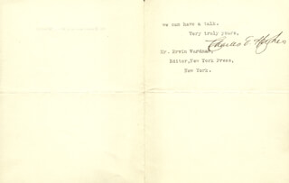 CHIEF JUSTICE CHARLES E HUGHES - TYPED LETTER SIGNED 12/15/1906