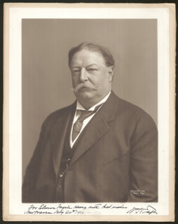 PRESIDENT WILLIAM H. TAFT - AUTOGRAPHED INSCRIBED PHOTOGRAPH 02/24/1916
