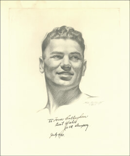 Autographs: JACK DEMPSEY - INSCRIBED PRINTED ART SIGNED IN INK 06/06/1928