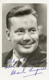CHARLES TINGWELL - AUTOGRAPHED INSCRIBED PHOTOGRAPH