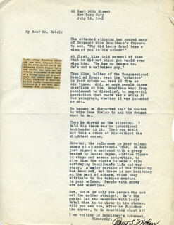 ALBERT S. NATHAN - TYPED LETTER SIGNED 07/15/1941
