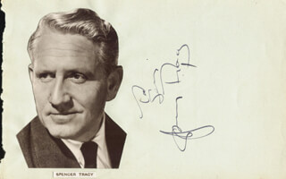 SPENCER TRACY - INSCRIBED SIGNATURE