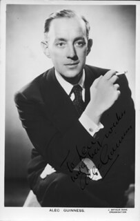 SIR ALEC GUINNESS - AUTOGRAPHED INSCRIBED PHOTOGRAPH