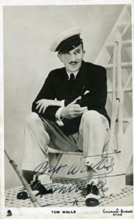TOM WALLS - PICTURE POST CARD SIGNED