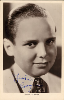 JACKIE COOGAN - PRINTED PHOTOGRAPH SIGNED IN INK
