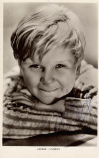 JACKIE COOPER - PICTURE POST CARD SIGNED