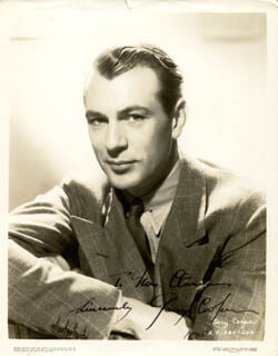 GARY COOPER - AUTOGRAPHED INSCRIBED PHOTOGRAPH 1938
