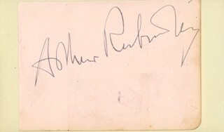 ARTHUR RUBINSTEIN - AUTOGRAPH CO-SIGNED BY: RICHARD TAUBER