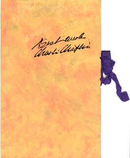 Autographs: CHARLIE THE LITTLE TRAMP CHAPLIN - PROGRAM SIGNED 2/27