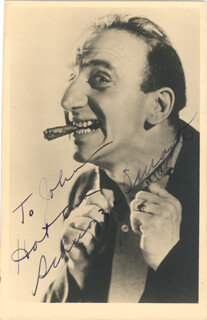 JIMMY SCHNOZZOLA DURANTE - INSCRIBED PICTURE POSTCARD SIGNED