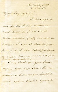 PRESIDENT JAMES BUCHANAN - AUTOGRAPH LETTER SIGNED 11/13/1855