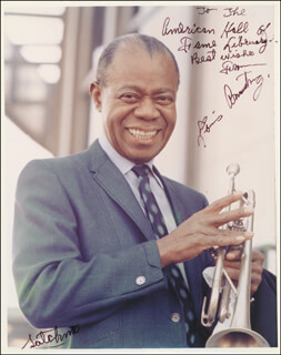 LOUIS SATCHMO ARMSTRONG - AUTOGRAPHED INSCRIBED PHOTOGRAPH
