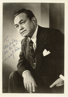 EDWARD G. ROBINSON - AUTOGRAPHED INSCRIBED PHOTOGRAPH