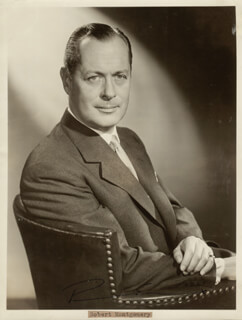 ROBERT MONTGOMERY - AUTOGRAPHED SIGNED PHOTOGRAPH