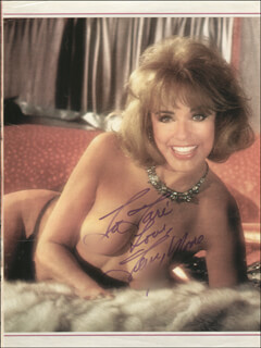 TERRY MOORE - INSCRIBED MAGAZINE PHOTO SIGNED