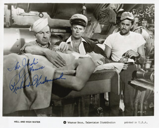 RICHARD WIDMARK - AUTOGRAPHED INSCRIBED PHOTOGRAPH