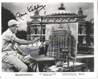 AN AMERICAN IN PARIS MOVIE CAST - AUTOGRAPHED SIGNED PHOTOGRAPH CO-SIGNED BY: VINCENTE MINNELLI, GENE KELLY