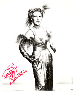 BETTY HUTTON - AUTOGRAPHED SIGNED PHOTOGRAPH