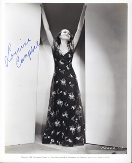 LOUISE CAMPBELL - AUTOGRAPHED SIGNED PHOTOGRAPH
