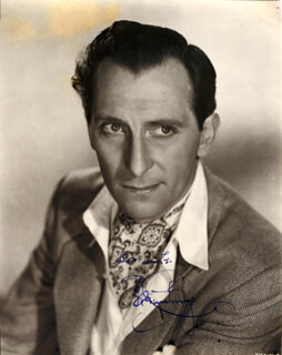 PETER CUSHING - AUTOGRAPHED SIGNED PHOTOGRAPH