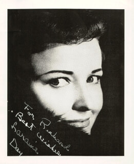 LARAINE DAY - INSCRIBED PICTURE POSTCARD SIGNED CIRCA 1980