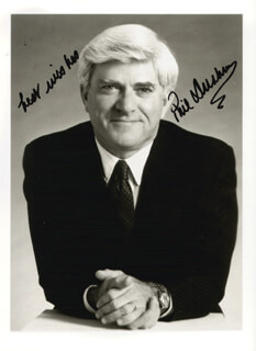 PHIL DONAHUE - AUTOGRAPHED SIGNED PHOTOGRAPH