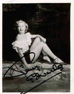 PENNY EDWARDS - AUTOGRAPHED SIGNED PHOTOGRAPH