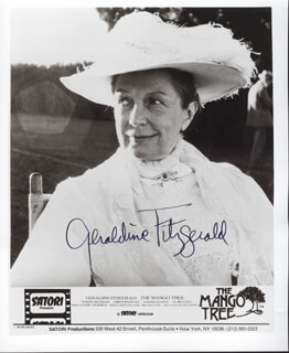 GERALDINE FITZGERALD - AUTOGRAPHED SIGNED PHOTOGRAPH
