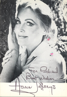 ANNE JEFFREYS - AUTOGRAPHED INSCRIBED PHOTOGRAPH 10/21/1984