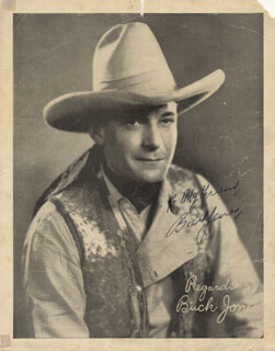 BUCK JONES - AUTOGRAPHED INSCRIBED PHOTOGRAPH