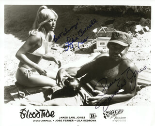 BLOODTIDE MOVIE CAST - AUTOGRAPHED SIGNED PHOTOGRAPH CO-SIGNED BY: JAMES EARL JONES, LYDIA CORNELL