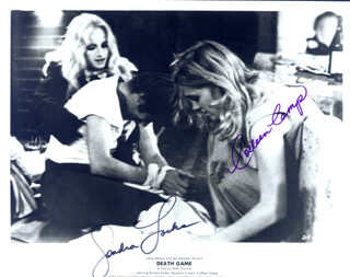 DEATH GAME MOVIE CAST - AUTOGRAPHED SIGNED PHOTOGRAPH CO-SIGNED BY: COLLEEN CAMP, SONDRA LOCKE