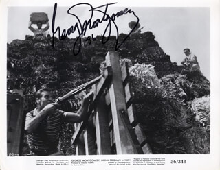 GEORGE MONTGOMERY - AUTOGRAPHED SIGNED PHOTOGRAPH 1986