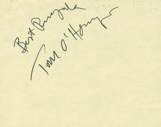 TOM O'HORGAN - AUTOGRAPH SENTIMENT SIGNED CIRCA 1977 CO-SIGNED BY: JEANNIE NAPOLI