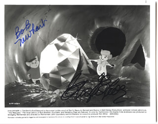 THE RESCUERS MOVIE CAST - AUTOGRAPHED SIGNED PHOTOGRAPH CO-SIGNED BY: EVA GABOR, BOB NEWHART