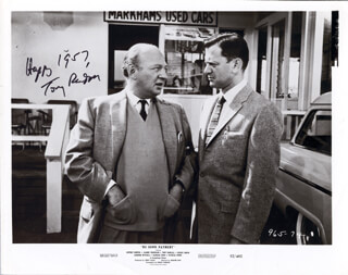 TONY RANDALL - PRINTED PHOTOGRAPH SIGNED IN INK 1957