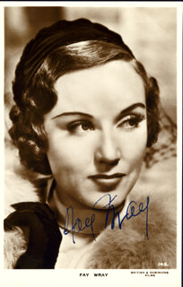 FAY WRAY - AUTOGRAPHED SIGNED PHOTOGRAPH