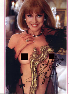 TERRY MOORE - MAGAZINE PHOTOGRAPH SIGNED