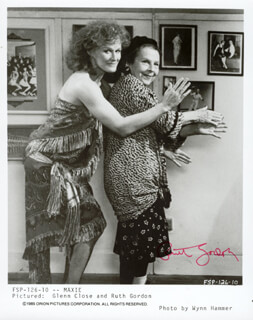 RUTH GORDON - PRINTED PHOTOGRAPH SIGNED IN INK